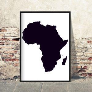 Afrika hvid baggrund